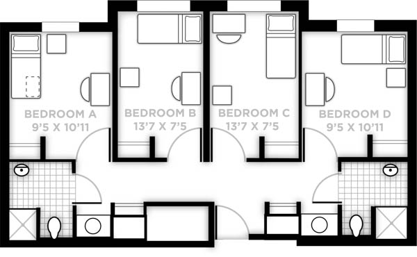L-shaped suite